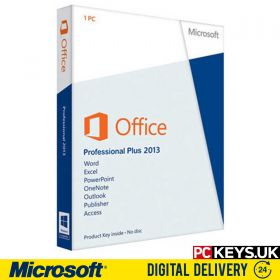 Microsoft Office 2013 Professional Plus 1 PC Product License Key