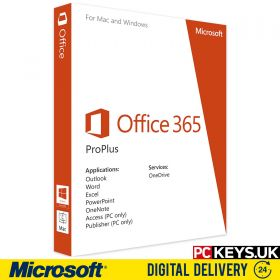 Microsoft Office 365 ProPlus 1 Year 5 PC / Mac / Tablet