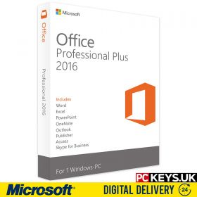 Microsoft Office 2016 Professional Plus 1 PC Product License Key