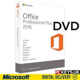 Microsoft Office 2016 Professional Plus DVD