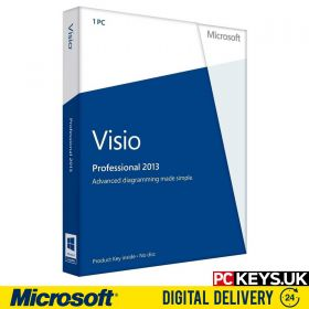 Microsoft Visio Professional 2013 1 PC Product License Key