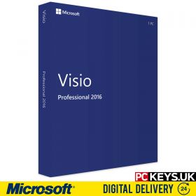 Microsoft Visio Professional 2016 1 PC Product License Key