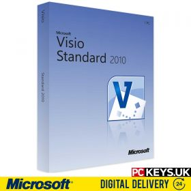 Microsoft Visio Standard 2010 1 PC Product License Key
