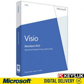 Microsoft Visio Standard 2013 1 PC Product License Key