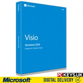 Microsoft Visio Standard 2016 1 PC Product License Key