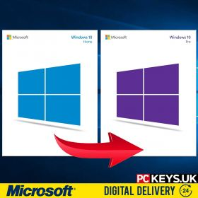 Windows 10 Home to Professional 1 PC Upgrade License Key