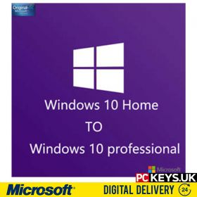 Windows 10 S to Professional 1 PC Upgrade License Key