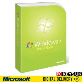 Windows 7 Home Basic 1 PC Product License Key