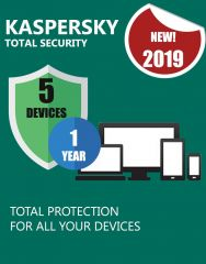 Kaspersky Total Security 2019 | 5 Devices | 1 Year | PC/Mac/Android