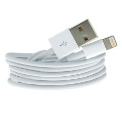 Data and Charging Cable for iPhone XR XS X 8 7 5 5S 5SE 6 6S iPad iPod White