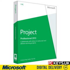 Microsoft Project Professional 2013 1 PC Product License Key