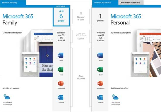 Microsoft 365 applications