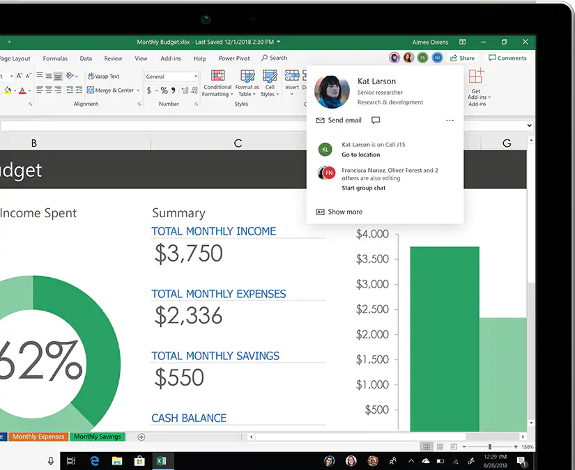 Excel 2019 features
