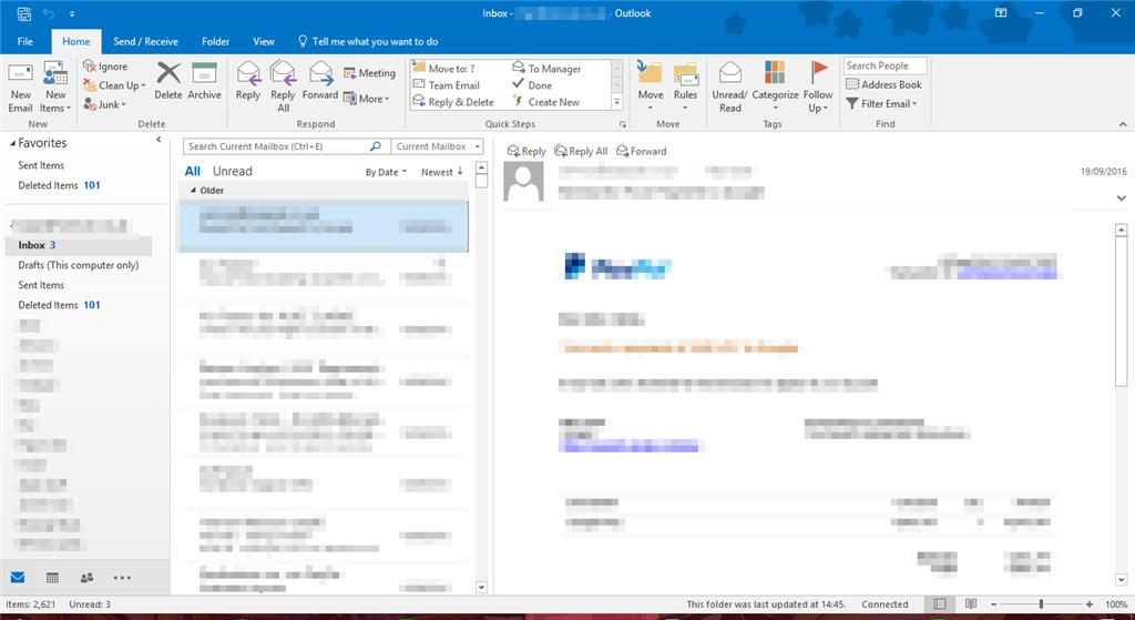 outlook 2016 license