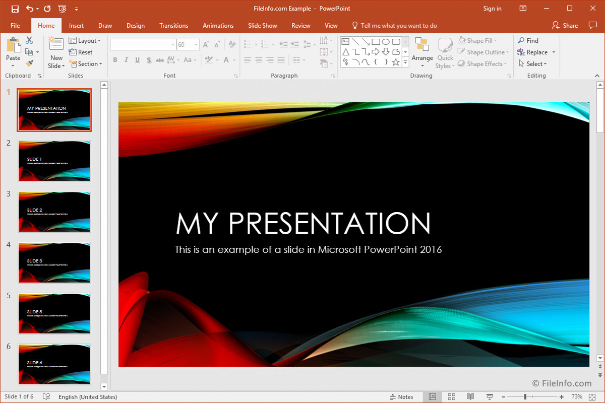 2016 PowerPoint in action
