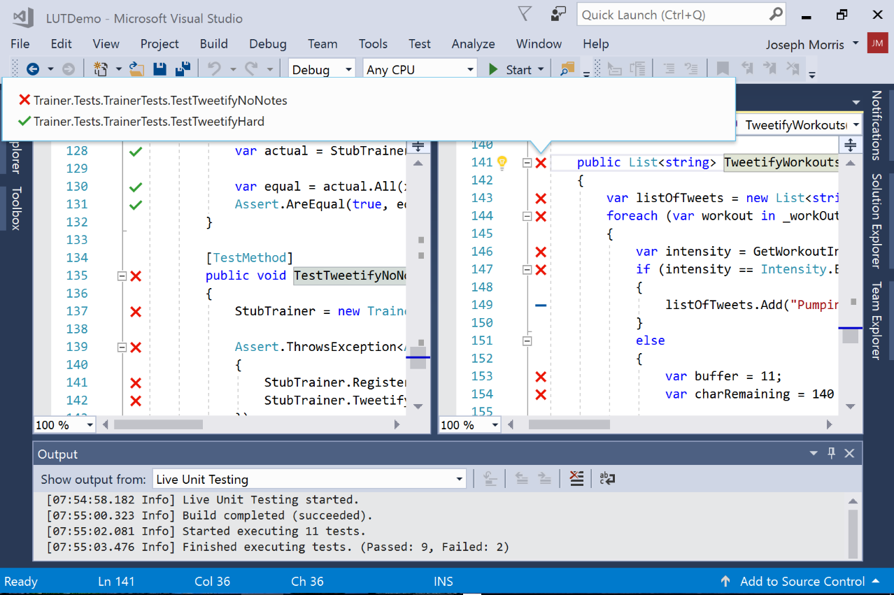 using Visual Studio 2017