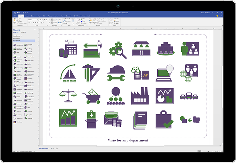 Visio 2019 shapes templates