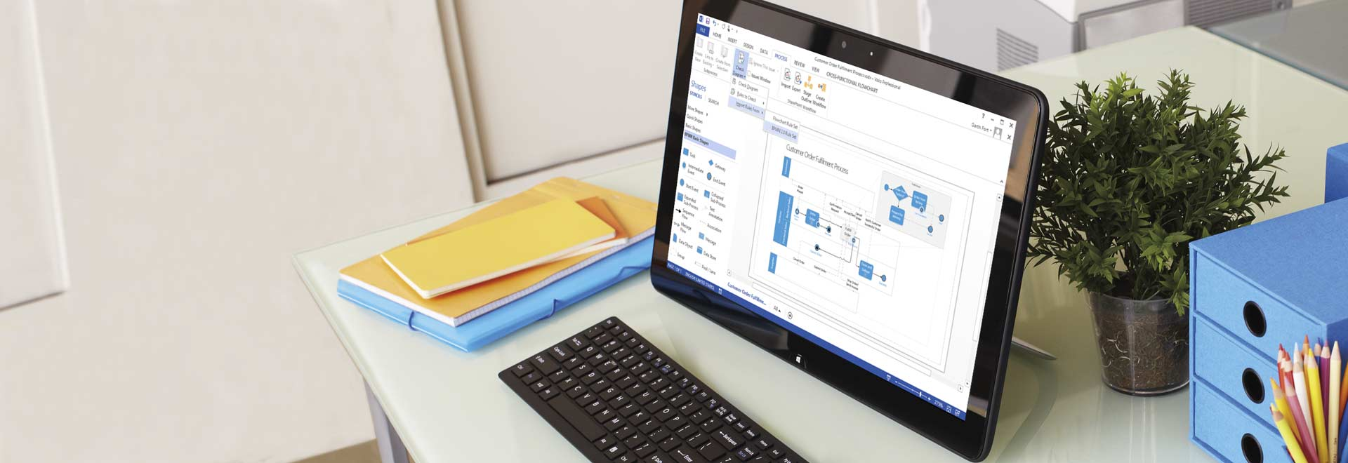 Visio 2019 3d view in use