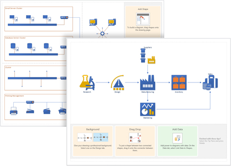 2016 Visio flow charts