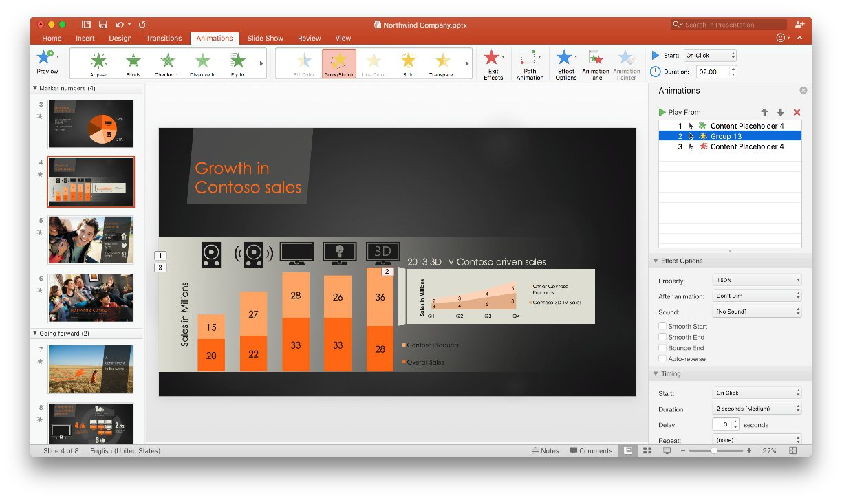 PowerPoint 2016 in action